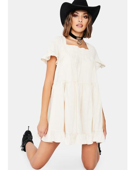Calm A Sure Thing Babydoll Dress