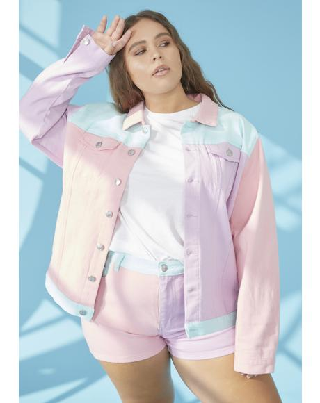 Pool Sweet Crush On U Colorblock Jacket