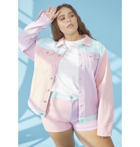 dELiA*s by Dolls Kill Pool Sweet Crush On U Colorblock Jacket