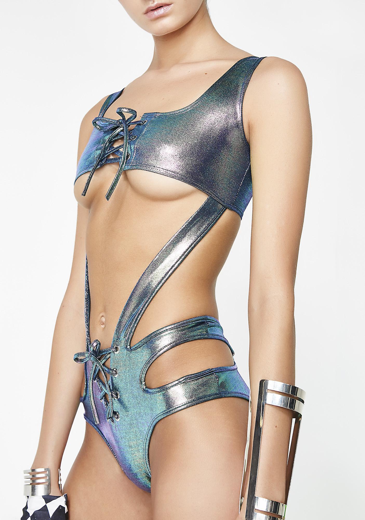 Merbabe Suckerpunch Cut-Out Bodysuit