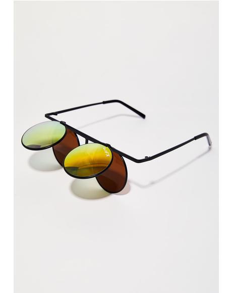 Vintage Round Flip Glasses