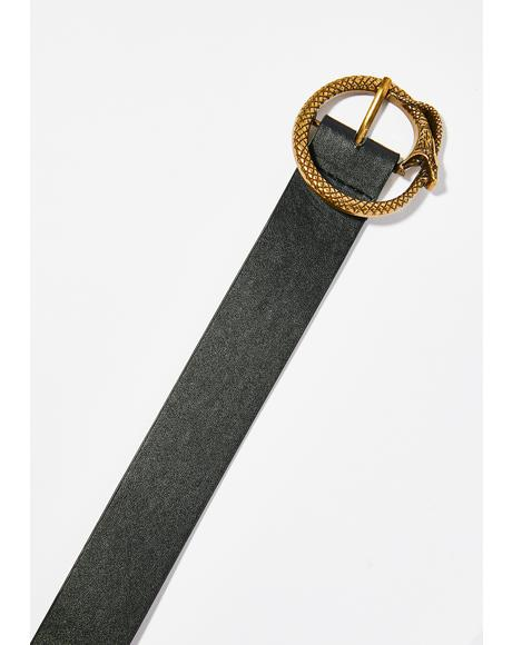 Sly Moves Snake Buckle Belt