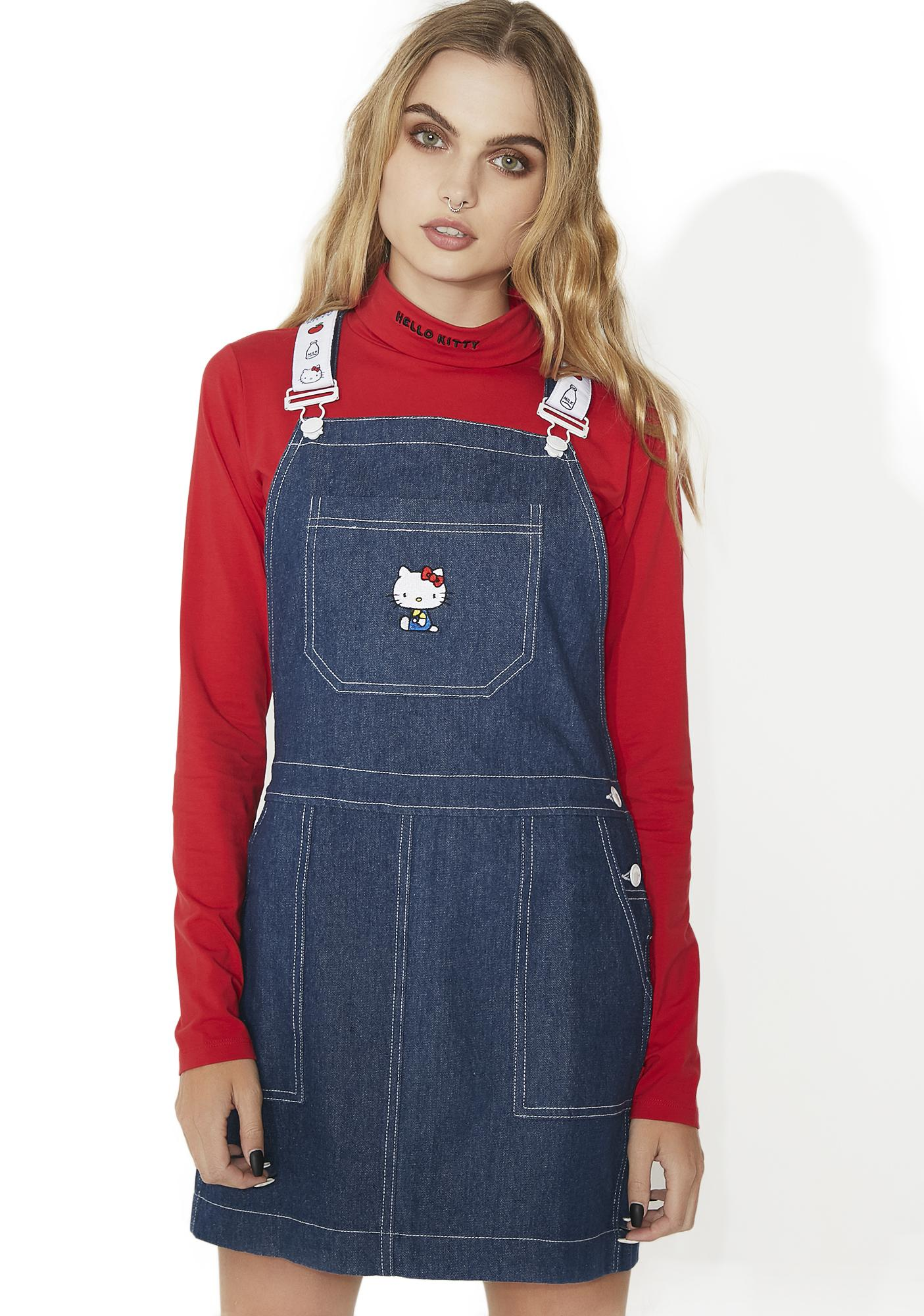 8462bac9b Lazy Oaf Hello Kitty Pinny Dress | Dolls Kill