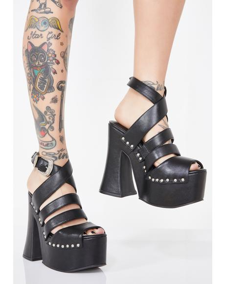 Wicked Hypnosis Platform Sandals