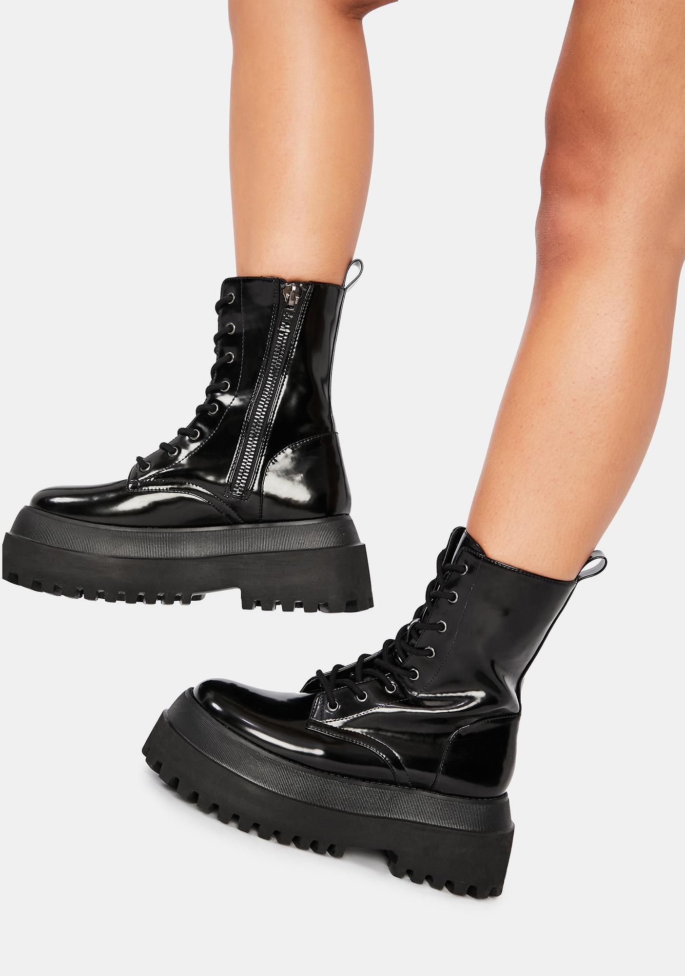 Current Mood Void Quantum Leap Platform Combat Boots