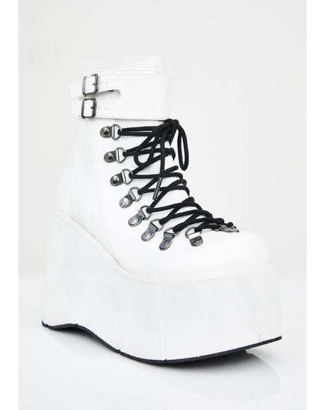 Pure Kera Lace-Up Platform Boots