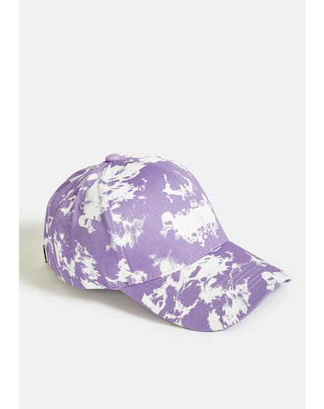 Lilac Sneaky Truth Tie Dye Cap