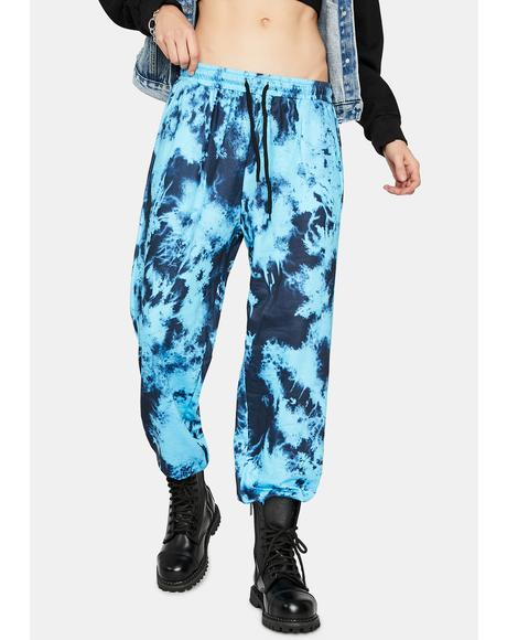 Aqua Mind Tricks Tie Dye Sweatpants