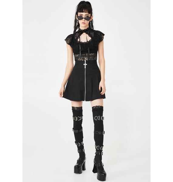Killstar Don't Cross Me Mini Skirt