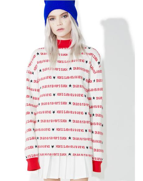 x X-Girl Turtle Neck Sweater