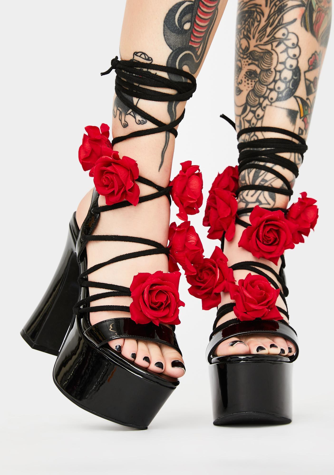 Sugar Thrillz Loves U Not Lace Up Heels