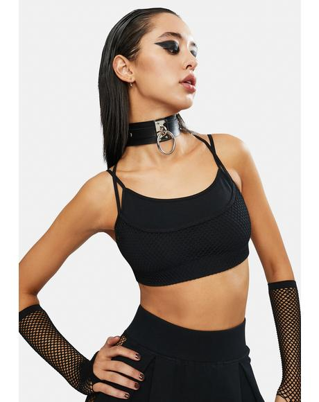 Serve It Up Fishnet Tennis Bra