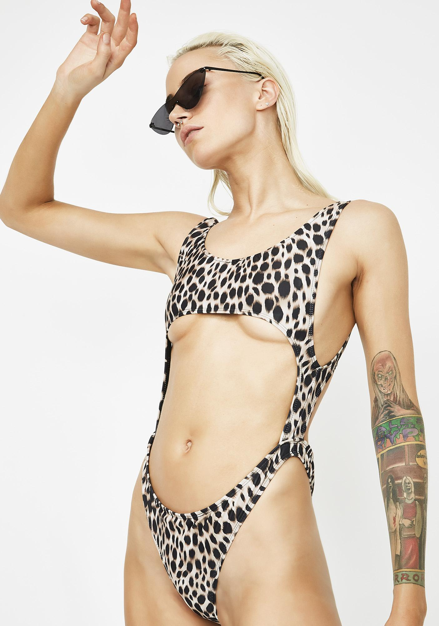 Motel Jungle Lucy Cut-Out One Piece