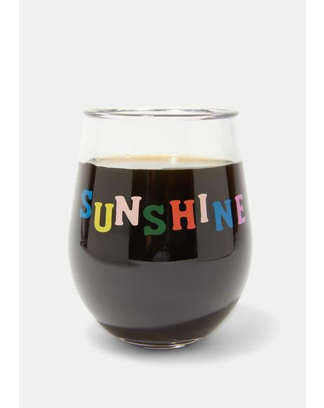 Drink Up The Sunshine Party On Wine Glass