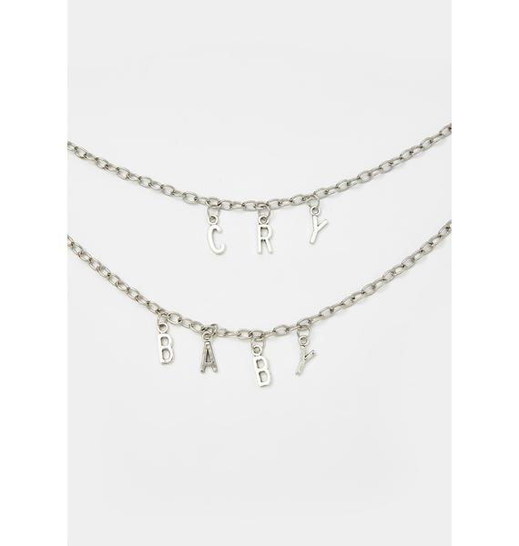 Lil Cry Baby Layered Chain Necklace