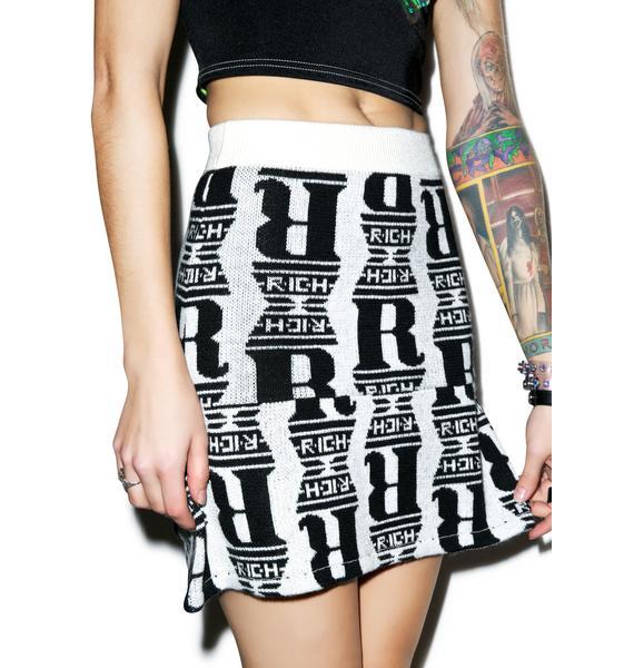 Joyrich Chrome Status Knit Skater Skirt