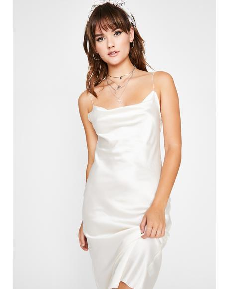 Angel Above Satin Dress