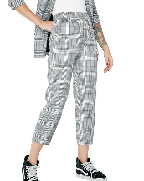 Extra Credit Plaid Pants