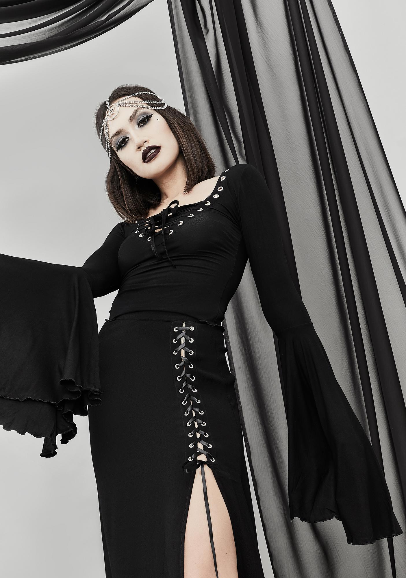 Widow Happy Haunting Maxi Skirt