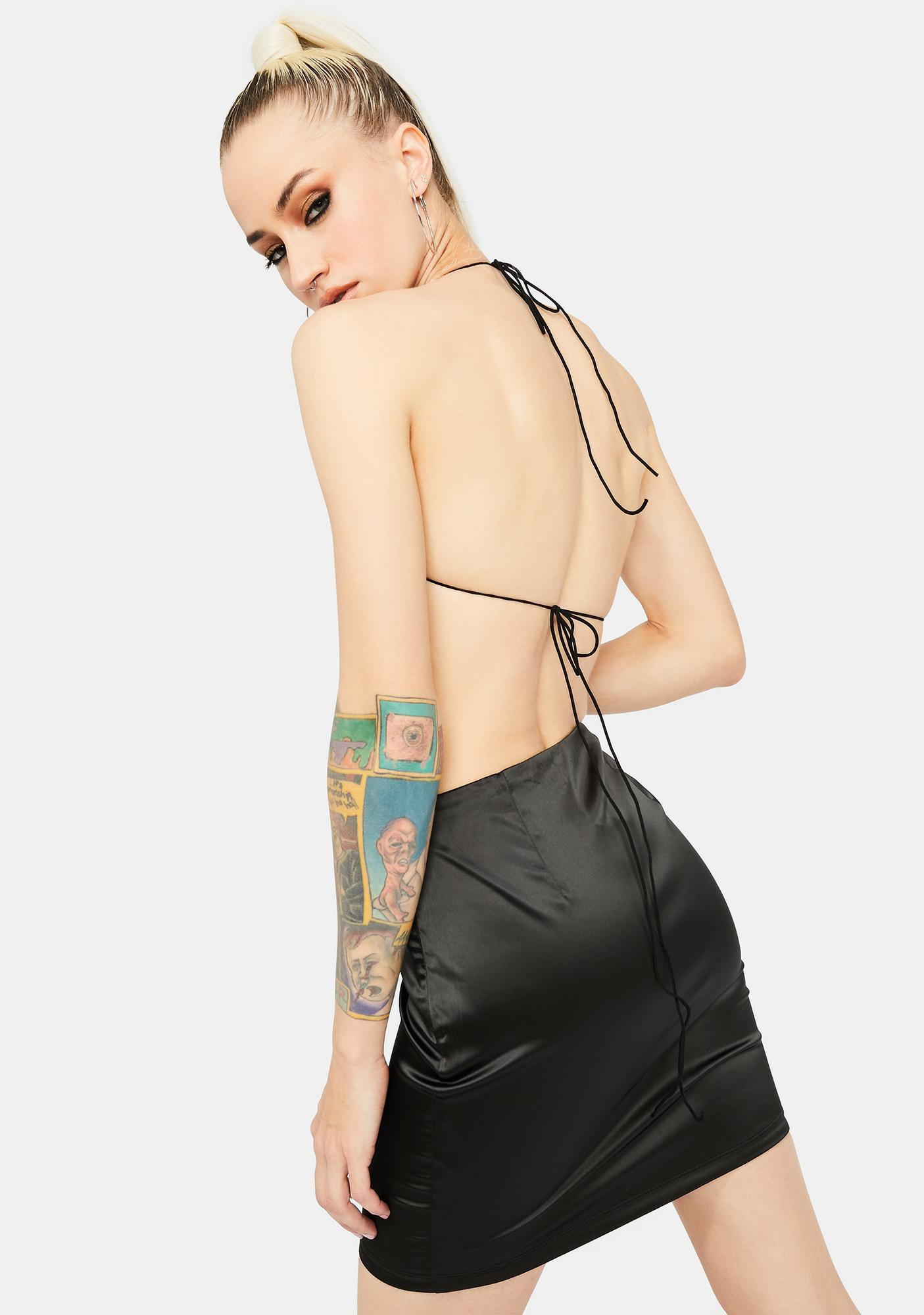 Star Behavior Satin Skirt Set