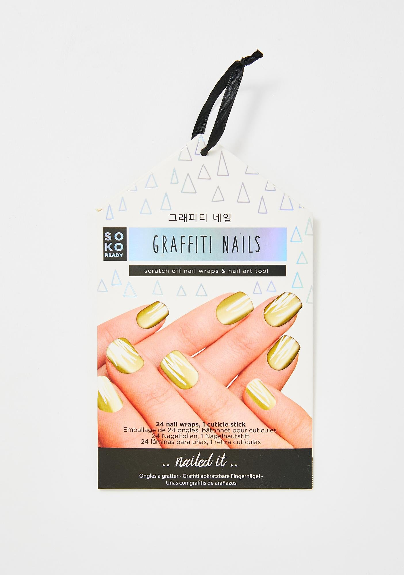 Soko Ready Graffiti Nails