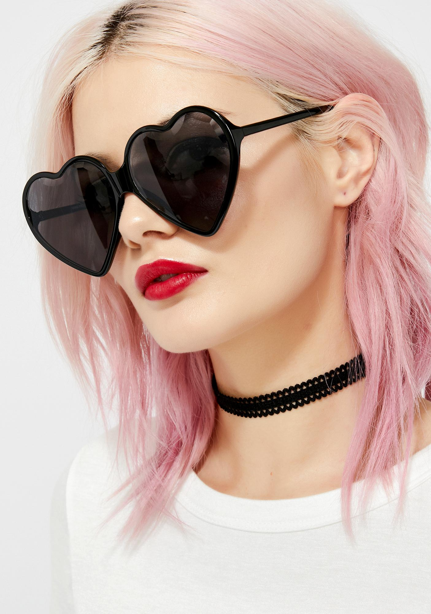 Dark Love Visionz Heart Sunglasses by