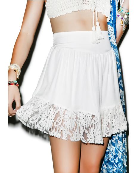 Be Pleasant Lace Skirt