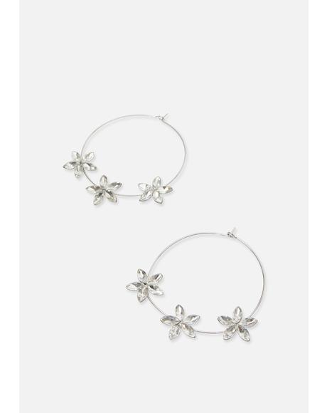 Bloom With Beauty Flower Hoops