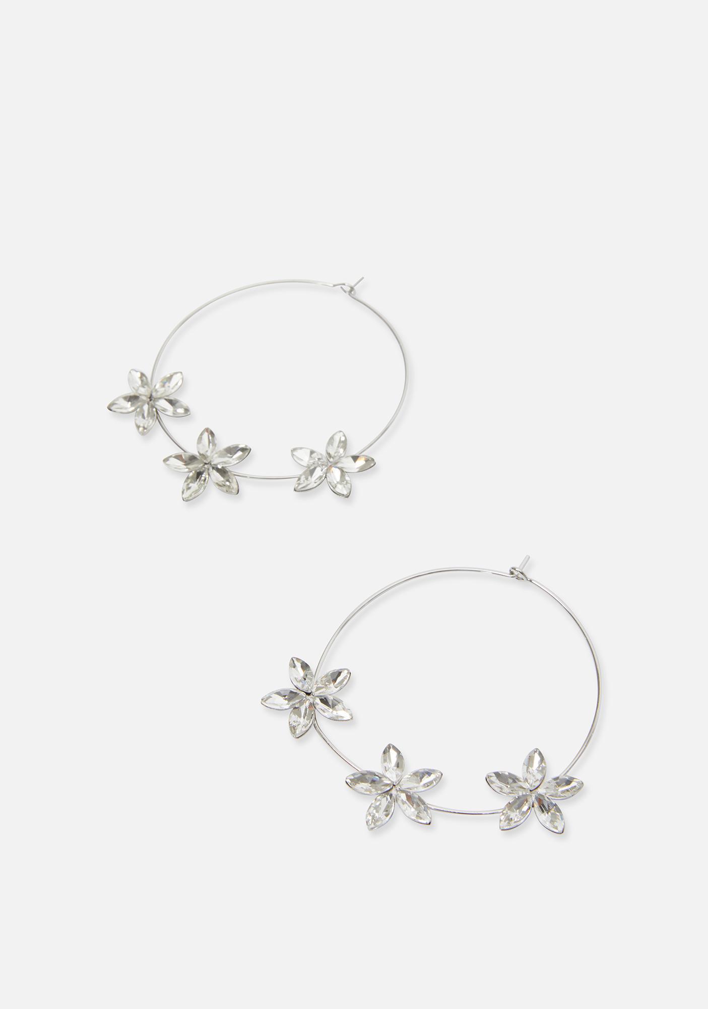 Bloom With Beauty Flower Hoops