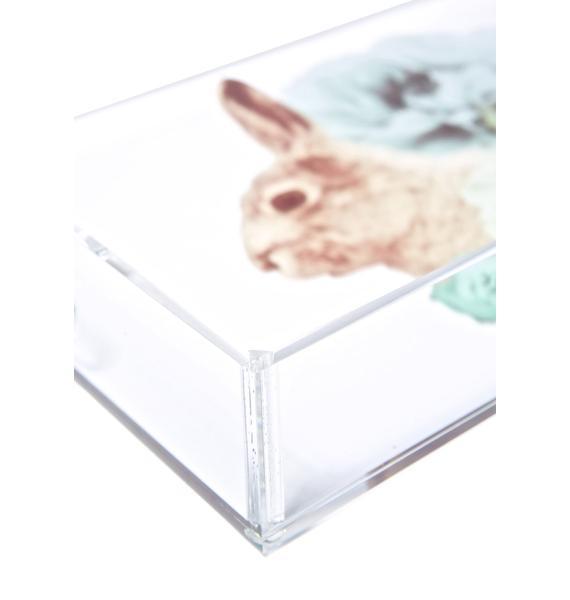 Pastel Pastiche Rabbit Acrylic Tray