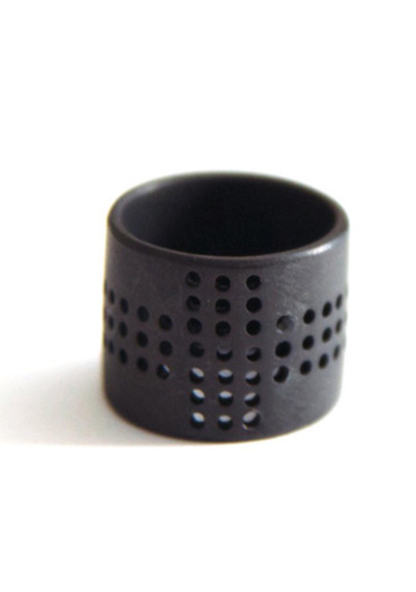 Luv AJ Perforated Cross Ring
