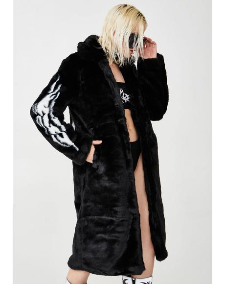Fallen Angel Faux Fur Coat