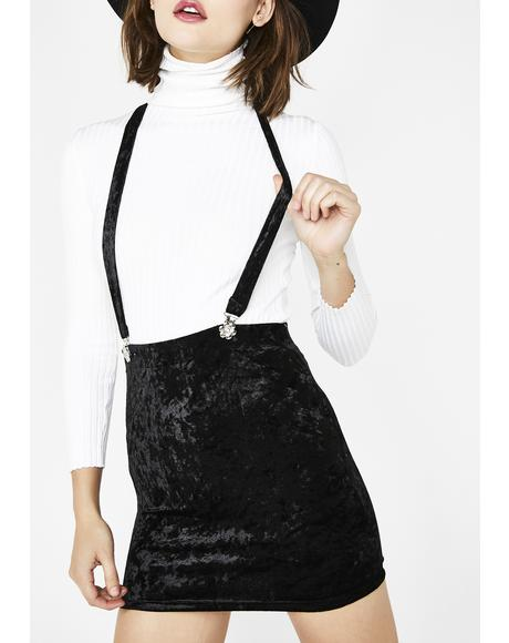 Crushed Hearts Suspender Skirt