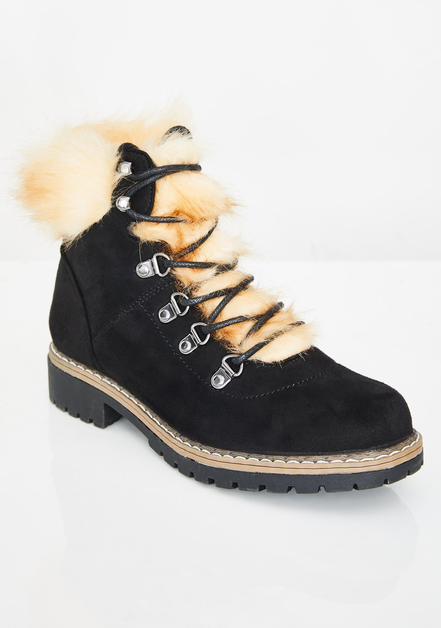 Arctic Bunny Ankle Boots