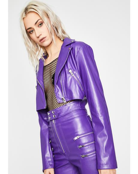 Grape Lady Danger Moto Jacket