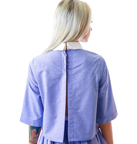 Laurel Canyon Open Back Blouse