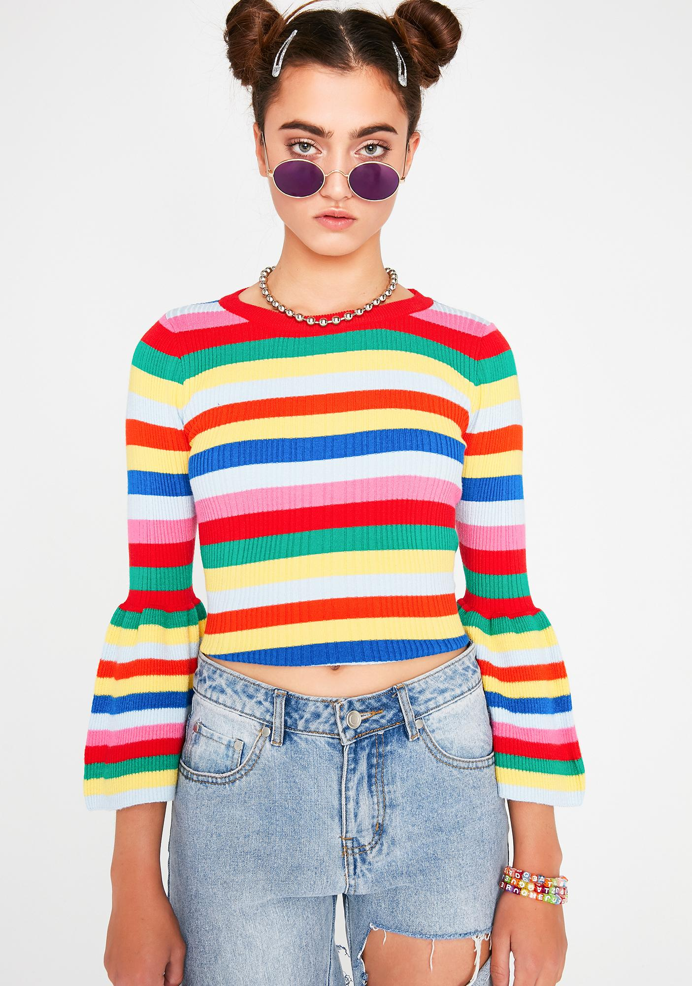 Persuit Of Happiness Rainbow Top
