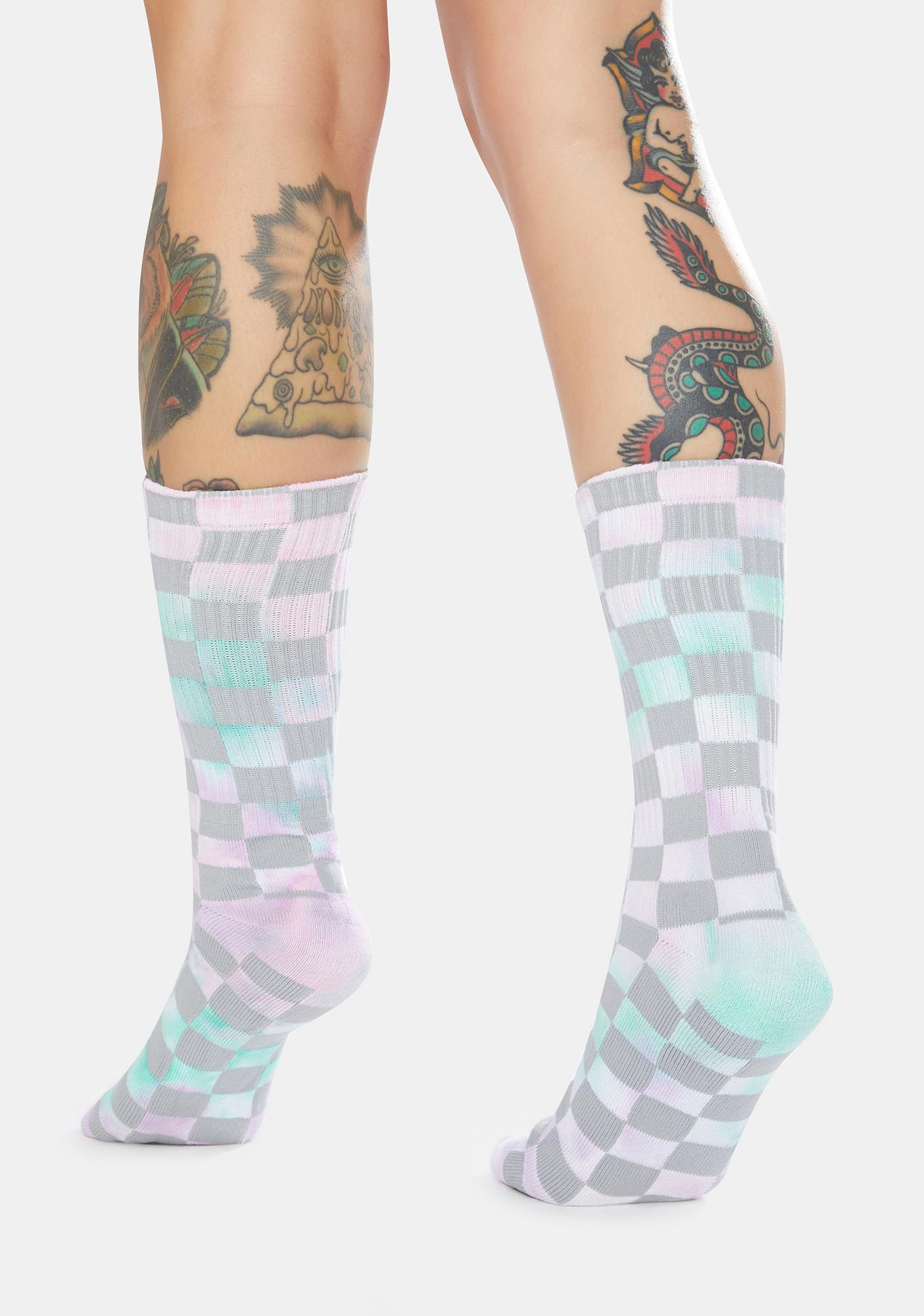 Steel Your Move Checkered Crew Socks