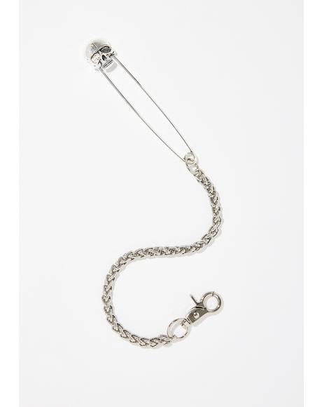 Skull Pin Chain