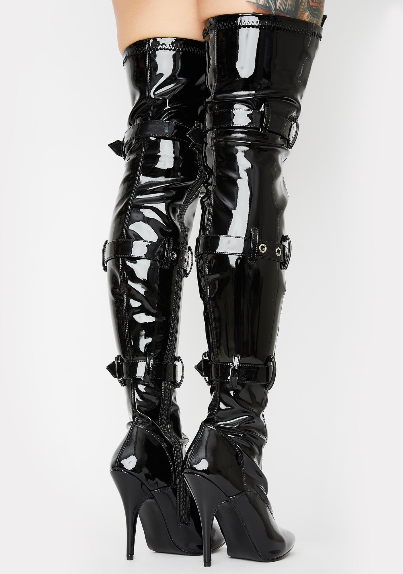 Pleaser Seduce Thigh High Boots