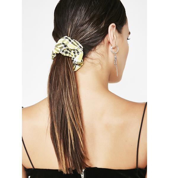 Bee Pass With Class Plaid Scrunchie