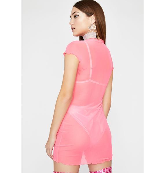 Love Naughty Talk Sheer Dress