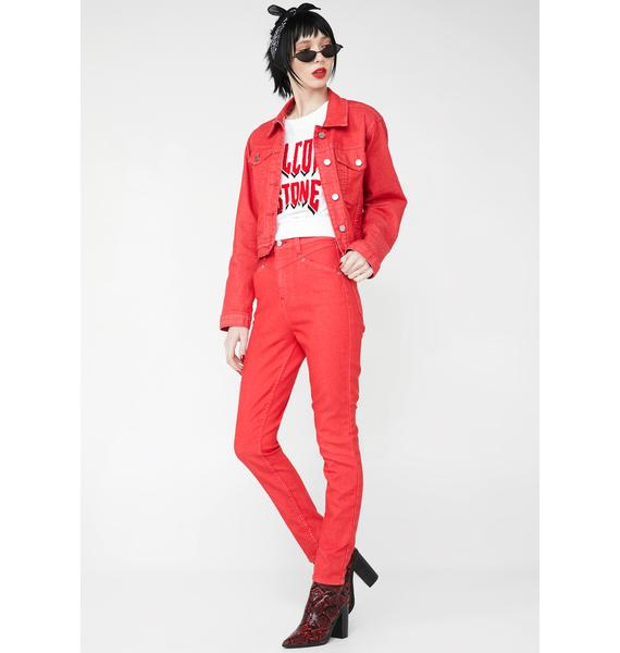 Volcom x Georgia May Jagger High Rise Jeans