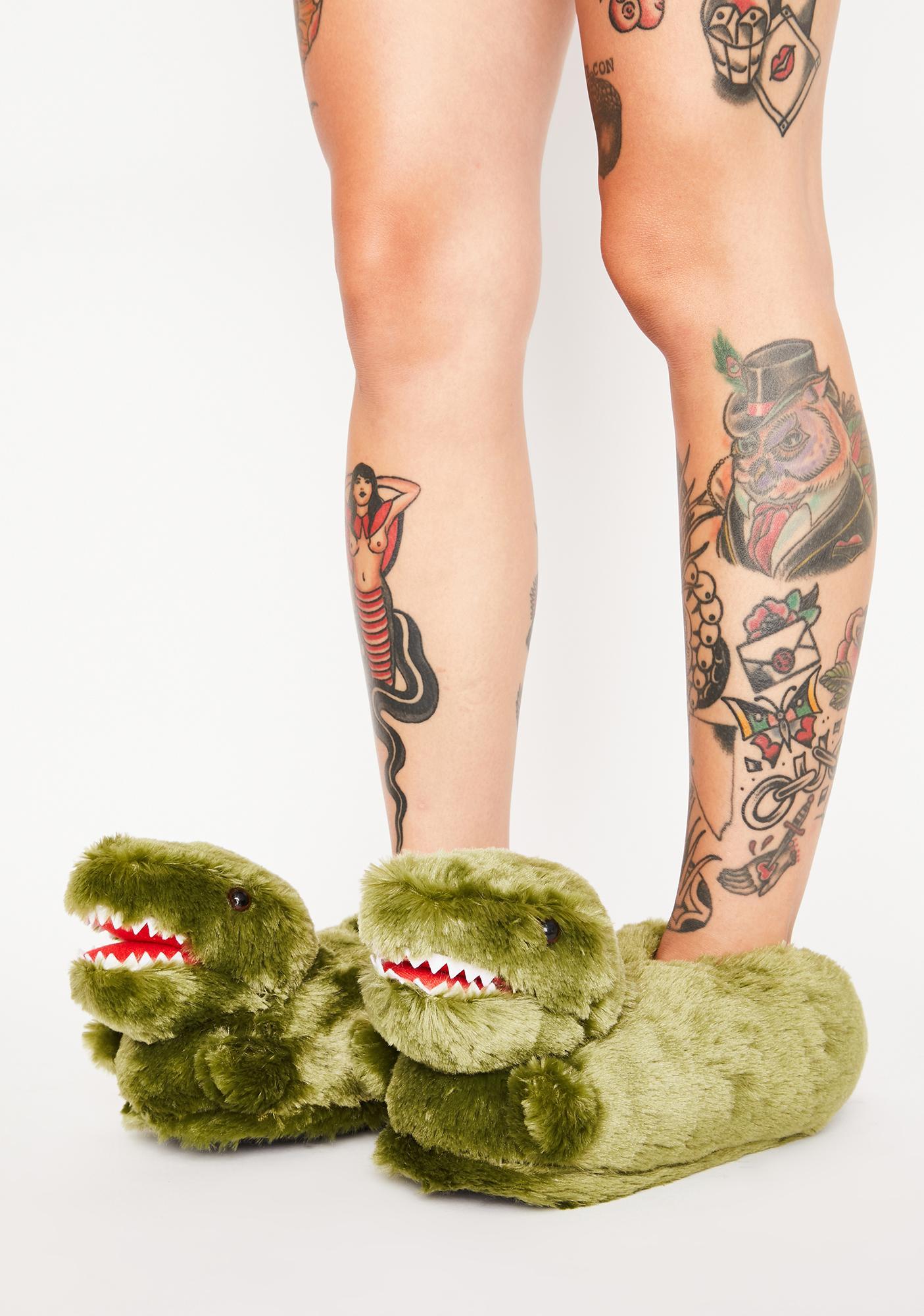 Di-Know U Luv Me Dinosaur Slippers