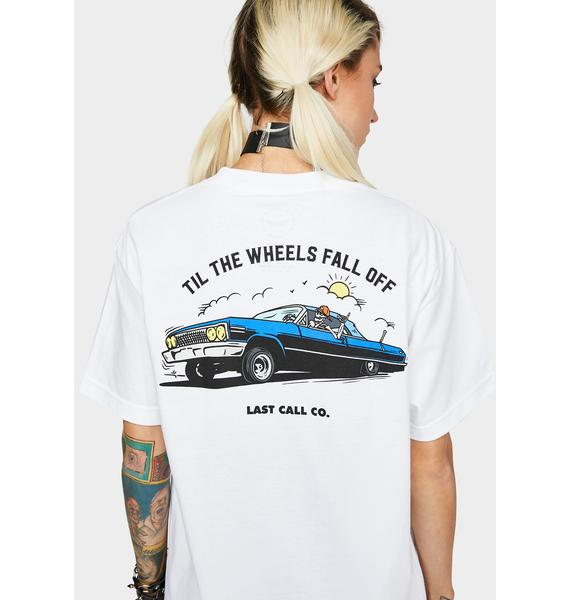 Last Call Co. Wheels Fall Off Graphic Tee