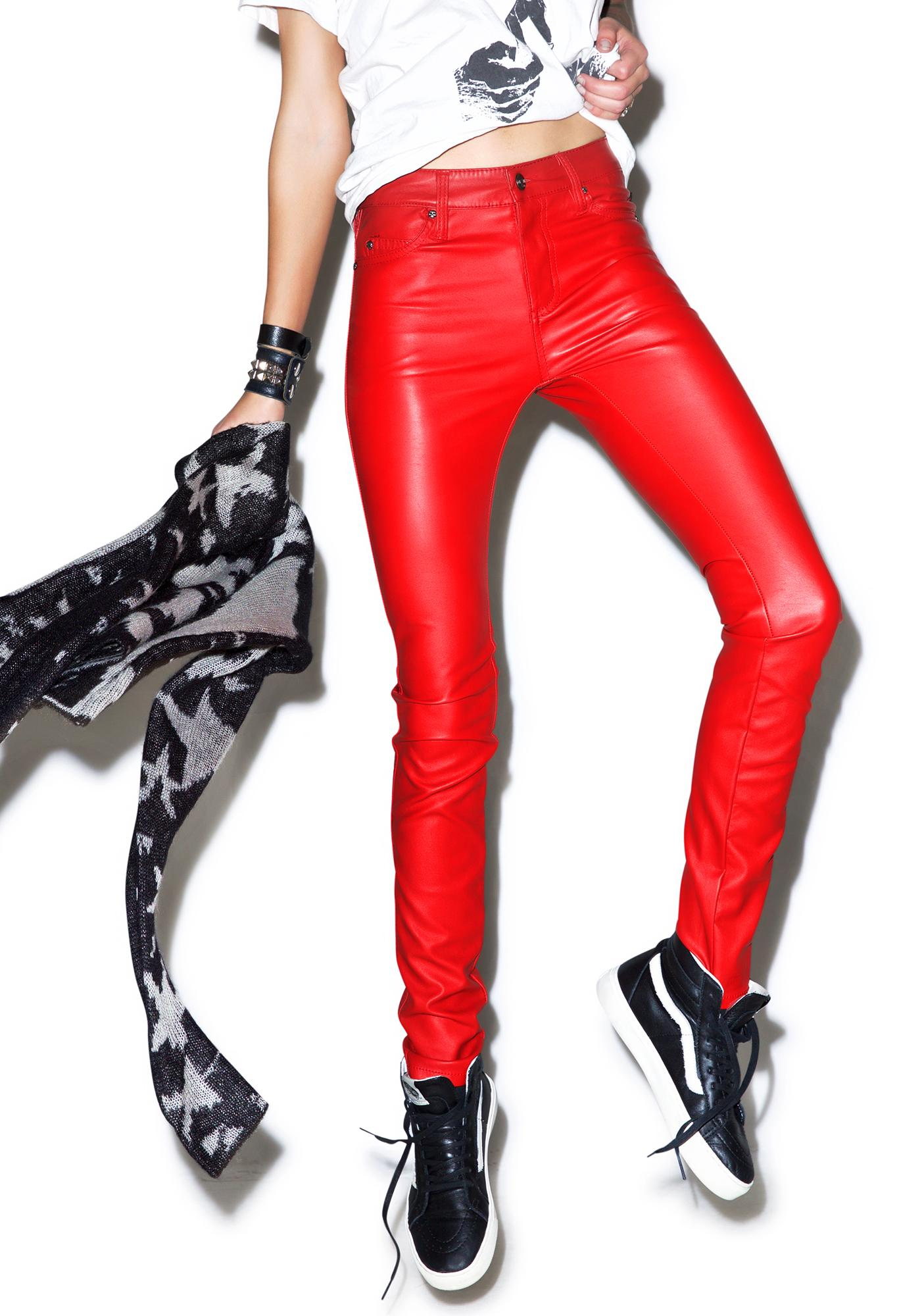 Tripp NYC Hellraiser Faux Leather Skinny Pants