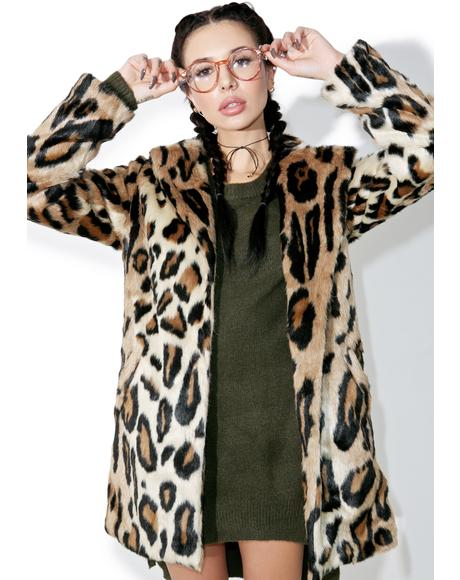 Purrfect Leopard Coat