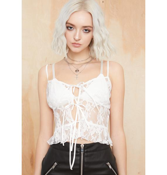 Current Mood Lost In The Crowd Lace Cami
