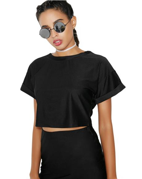 Mystic Night Crop Tee