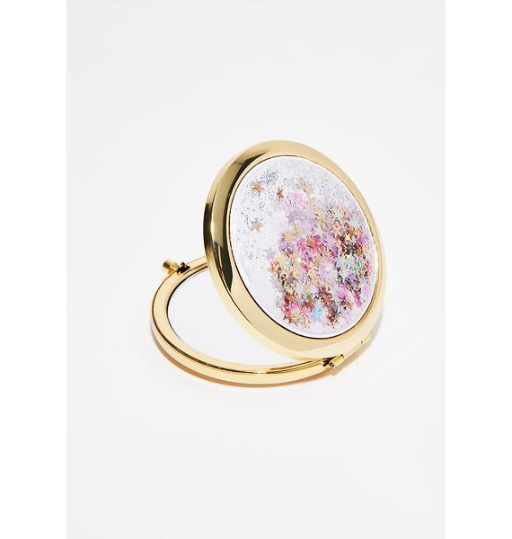 Skinnydip Golden Dreamer Glitter Mirror